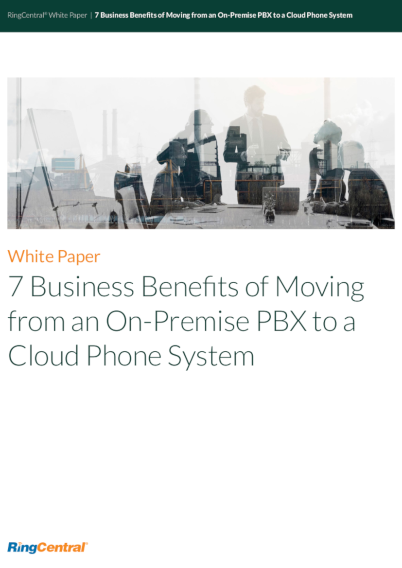 PDF] 7 Business Benefits of Moving from an On-Premise PBX To