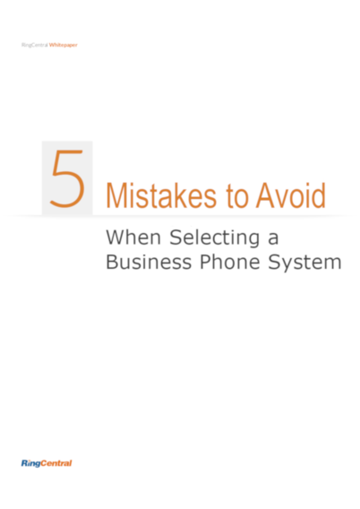 5 Mistakes To Avoid When Selecting a Business Phone System