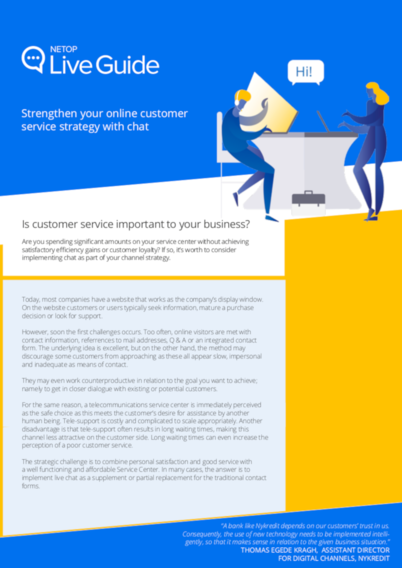 Strengthen your online customer service strategy with chat