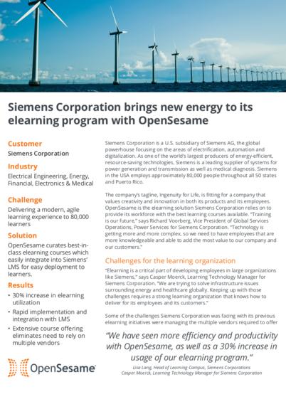 OpenSesame Success Story: Siemens