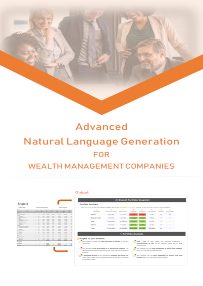 Advanced Natural Language Generation for Wealth Management Companies