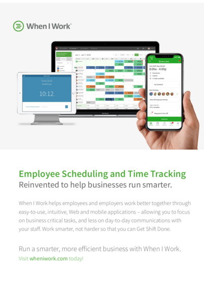 When I Work: Employee Scheduling and Time Tracking Reinvented