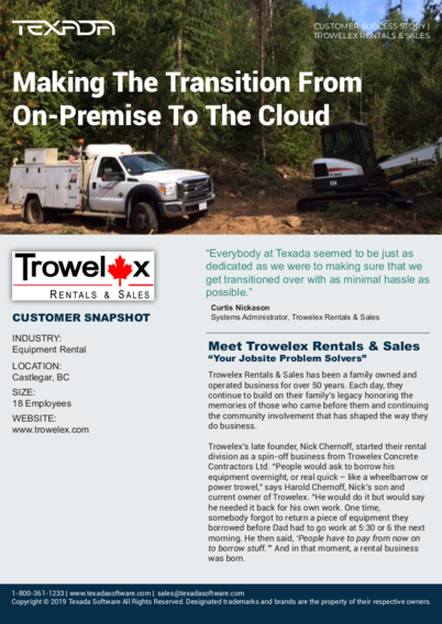 Making the Transition from On-Premise to the Cloud