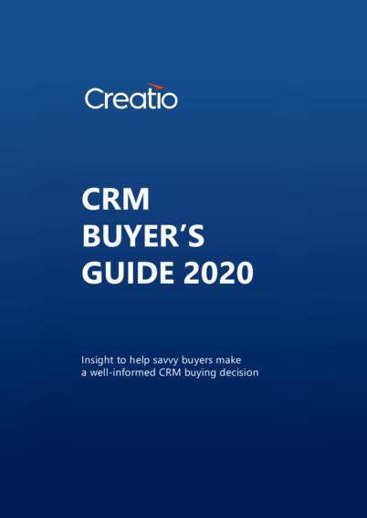 Creatio CRM Buyer's Guide 2020