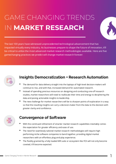 Game Changing Trends in Market Research