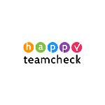 Happy team check logo