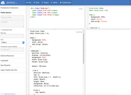 jsFiddle screenshot