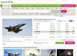 Dreamstime screenshot