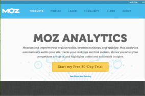 Moz Analytics screenshot