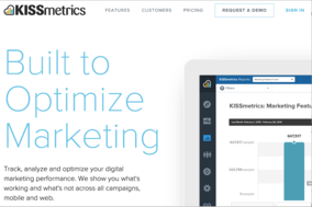 KISSmetrics screenshot