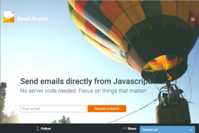 EmailJS screenshot