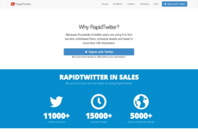 RapidTwitter screenshot