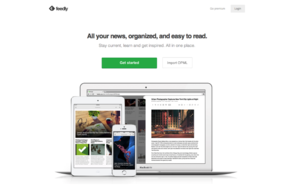 Feedly screenshot