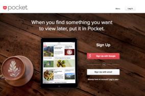 Pocket screenshot