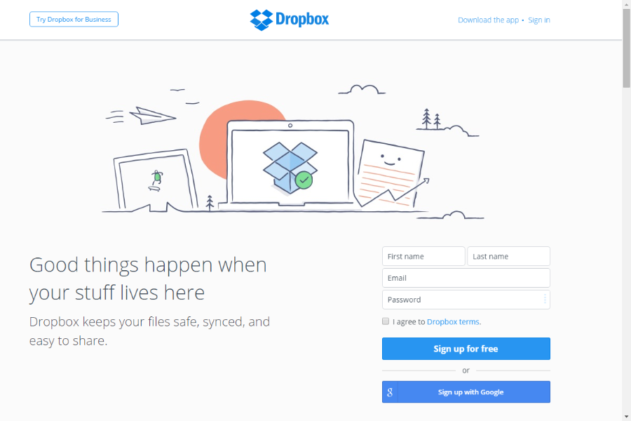 how to add dropbox to favorites