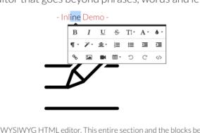 Froala Editor screenshot