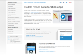 Huddle screenshot