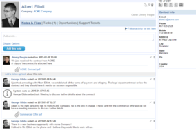 Zimplu CRM screenshot