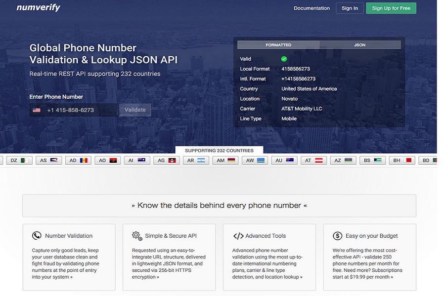 numverify API