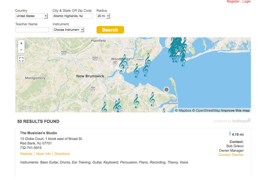 Bullseye Locations