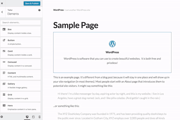 Tailor Page Builder
