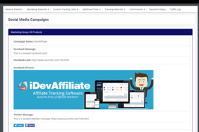 iDevAffiliate screenshot