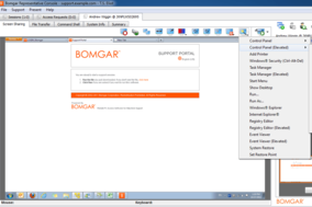 Bomgar screenshot