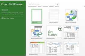 Microsoft Project screenshot