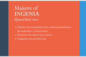 Ingenia API screenshot