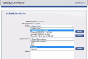 ScheduleAnywhere screenshot