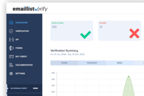 Email List Verify screenshot
