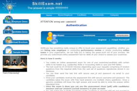 Skill Exam screenshot