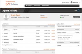 Vertafore Agency Platform screenshot