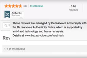 Bazaarvoice screenshot