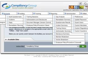 HIPAA Compliance Software screenshot