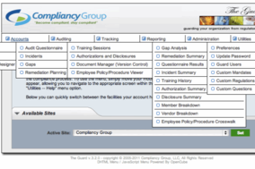HIPAA Compliance Software screenshot