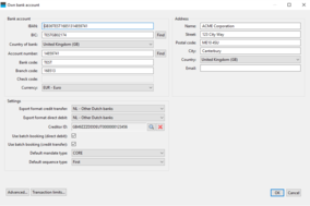 IBANC SEPA Software screenshot