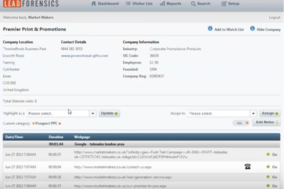 Lead Forensics screenshot