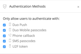 Duo Security screenshot