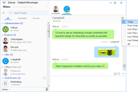 Output Messenger screenshot