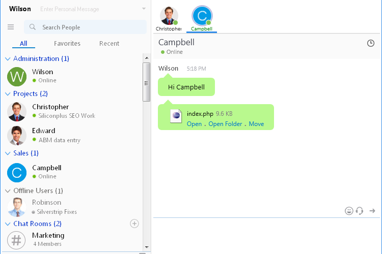 Output Messenger