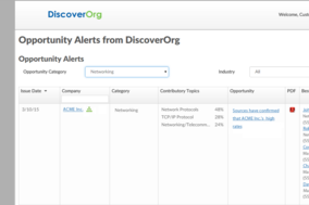 DiscoverOrg screenshot