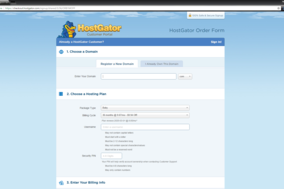 HostGator screenshot