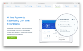 Freshbooks screenshot