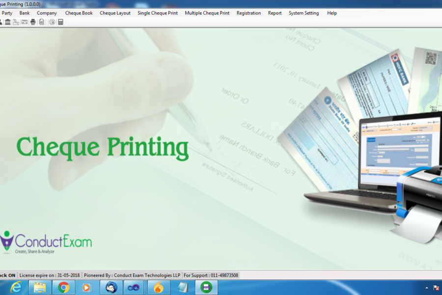 Cheque Printing Software