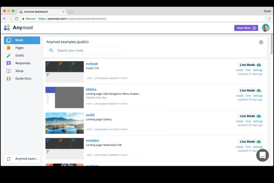Editable Web Modules