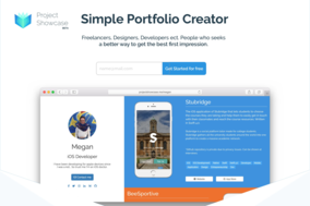 Project Showcase screenshot