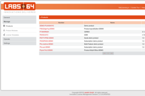 Labs64 NetLicensing screenshot