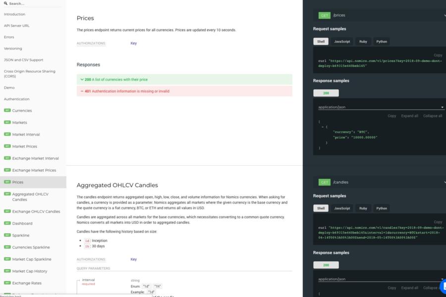 Nomics API