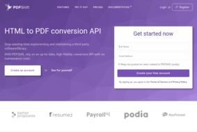 PDFShift screenshot